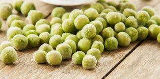Fresh frozen peas close up Stock Image