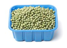 Fresh frozen peas Royalty Free Stock Photography