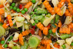 Fresh frozen vegetables eco food, natur. Royalty Free Stock Image
