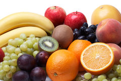 Fresh fruit. Fresh fruit on a white background Royalty Free Stock Photos