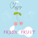 Fresh fruit. Universal template for greeting card, web page, background Stock Photos