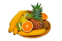 Fresh fruit. Isolated on white Royalty Free Stock Photo