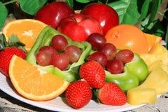 Fresh fruit background Stock Image