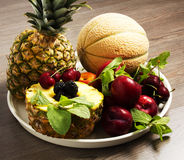 Fresh fruit. Composition of fresh fruit on the table Royalty Free Stock Image