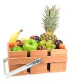 Fresh Fruit. A selection of fresh fruit with white background Royalty Free Stock Image