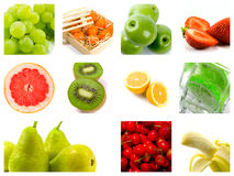 Fresh fruit. Collection from some photos Royalty Free Stock Photo