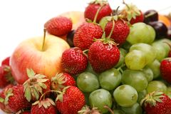 Fresh Fruit And Berries Stock Photos