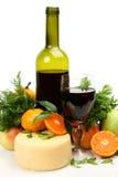 Fresh Fruit And Wine Stock Photos