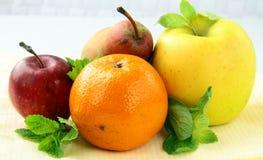 Fresh Fruit Apples Pears Tangerines Stock Images