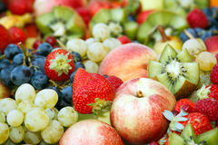 Fresh fruit assortment Stock Image