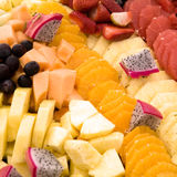 Fresh fruit assortment. An assortment of fresh fruits in bright colors Stock Image