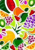 Fresh fruit background stock photos