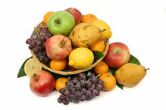 Fresh fruit basket Royalty Free Stock Photo