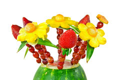 Fresh fruit bouquet Stock Photos