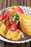 Fresh fruit in a bowl Royalty Free Stock Images
