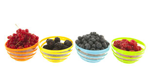 Fresh fruit in bowls Royalty Free Stock Image