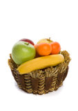 Fresh fruit in a braided basket Stock Image