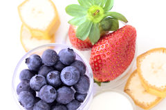 Fresh fruit breakfast Stock Photo