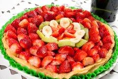 Fresh fruit cake Stock Photos