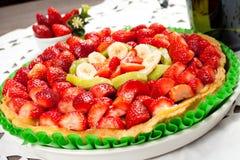 Fresh fruit cake Royalty Free Stock Photo
