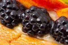 Fresh fruit cake Royalty Free Stock Images