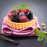 Fresh fruit cake Stock Image