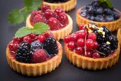 Fresh fruit cakes Royalty Free Stock Photos