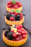 Fresh fruit cakes Royalty Free Stock Images