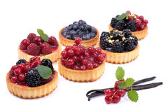 Fresh fruit cakes Royalty Free Stock Photos