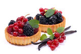 Fresh fruit cakes Stock Photos
