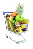 Fresh Fruit in Cart Royalty Free Stock Image
