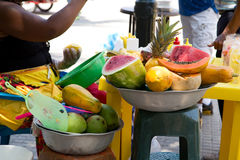 Fresh fruit in cartagena royalty free stock photo