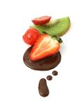 Fresh fruit and chocolate Stock Photo
