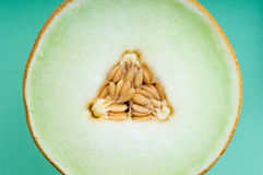 Fresh fruit close up of refreshing melon slice Royalty Free Stock Photography