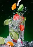 Fresh fruit cocktail Stock Photo