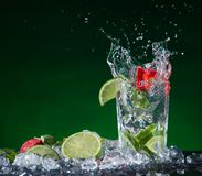 Fresh fruit cocktail Royalty Free Stock Photo