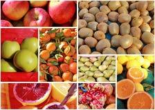Fresh fruit collage Royalty Free Stock Image