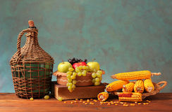 Fresh fruit and corn Royalty Free Stock Photo