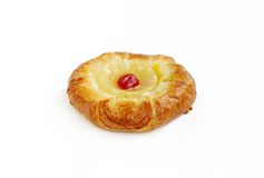 A fresh fruit Danish Pastry. Fruit Danish or Danish pastry are made of flour, yeast, milk, eggs and butter Royalty Free Stock Images