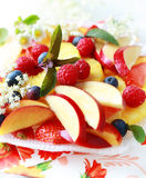 Fresh fruit dessert Royalty Free Stock Image