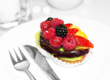 Fresh fruit dessert Stock Photos