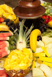 Fresh fruit display Stock Photos