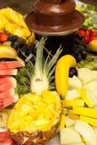 Fresh fruit display stock photos