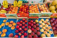 Fresh fruit on display. Royalty Free Stock Photo