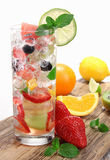 Fresh fruit drink Stock Photos