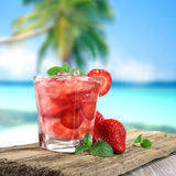 Fresh fruit drink Royalty Free Stock Images