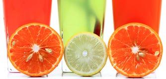 Fresh fruit drinks banner Royalty Free Stock Image