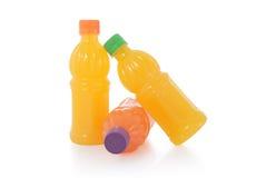 Fresh fruit drinks bottles Stock Photo