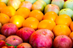 Fresh fruit at a farmers market. Royalty Free Stock Photo