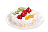 Fresh fruit flan cake Royalty Free Stock Image